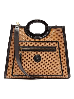 Fendi runaway medium cut out leather tote