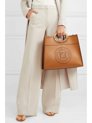 Fendi runaway medium perforated leather tote