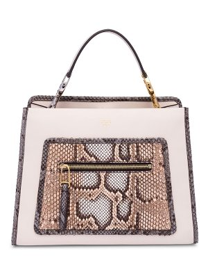 FENDI Runaway Small Leather Top Handle Bag