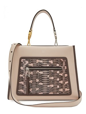 Fendi Runaway Watersnake And Leather Bag
