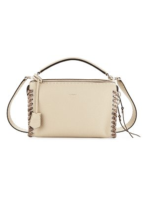 Fendi Selleria Lei Medium Calf and Snakeskin Top-Handle Bag