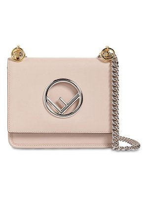 Fendi Small kan i logo leather shoulder bag