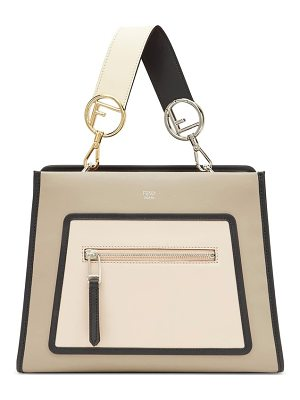 Fendi small runaway small colorblock leather tote