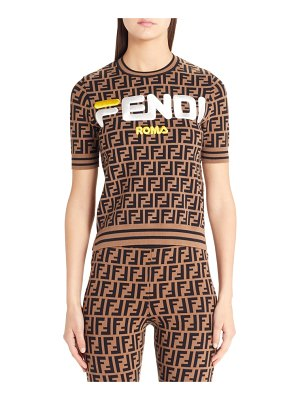 Fendi sport logo short sleeve sweater