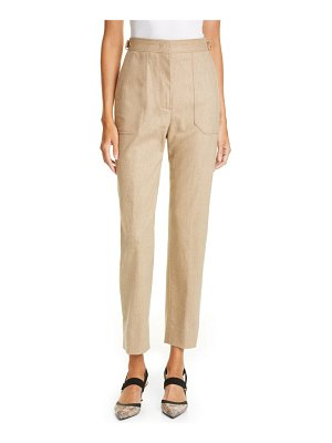 Fendi stretch wool & cashmere straight leg pants