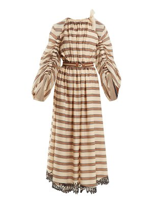 Fendi Striped Cotton Blend Dress