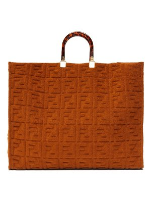 Fendi sunshine ff-embossed terry tote bag