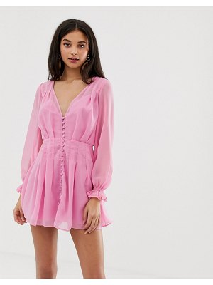 Finders Keepers bella button down mini dress