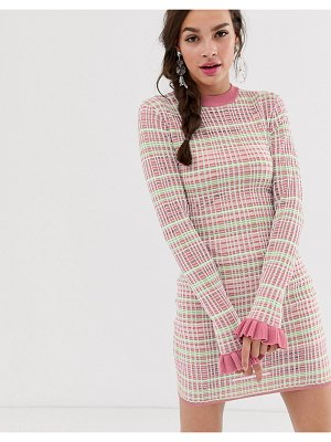 Finders Keepers luca bodycon mini dress-pink