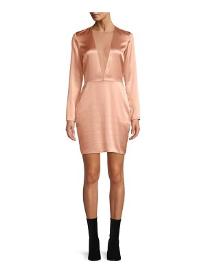 Fleur du Mal silk sheer plunge mini dress