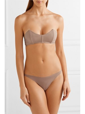 Fleur du Mal stretch-jersey and scalloped-corded lace bandeau bra