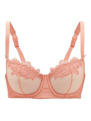 Fleur Of England penelope lace and tulle underwired bra