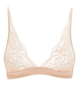 Fleur Of England signature boudoir chantilly-lace triangle bra