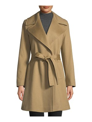 Fleurette Cashmere Self-Tie Wrap Coat
