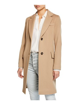 Fleurette Wool Two-Button Tailored Coat