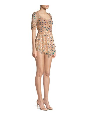 For Love & Lemons ace paillette lace mini dress