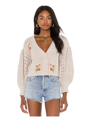 For Love & Lemons amaryllis cropped cardigan