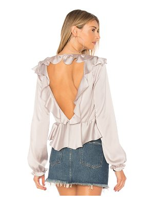 FOR LOVE & LEMONS Bette Open Back Blouse