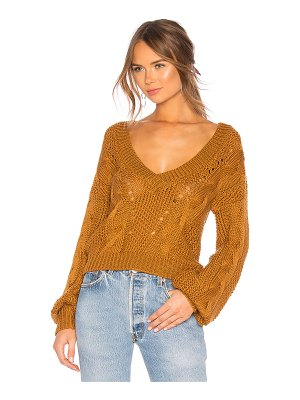 For Love & Lemons Charlotte Deep V Sweater