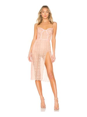 For Love & Lemons dakota lace midi dress