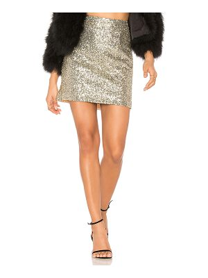 For Love & Lemons Eloise Sequin Mini Skirt