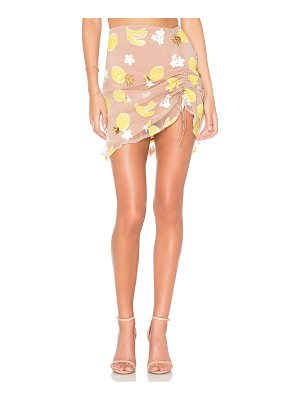 FOR LOVE & LEMONS Fruitpunch Shirred Mini Skirt