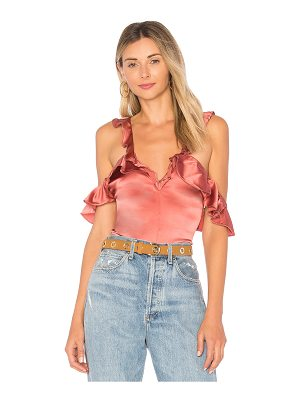 For Love & Lemons Lena Ruffle Bodysuit