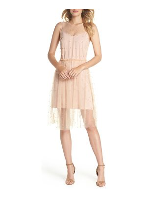 FOREST LILY Imitation Pearl & Tulle Dress