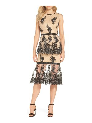 FOREST LILY tiered lace dress