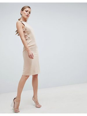 Forever Unique Formal Midi Dress With Side Detail