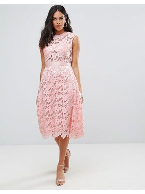 FOREVER UNIQUE Lace Midi Dress
