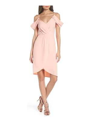 Fraiche by J cold shoulder tulip hem dress