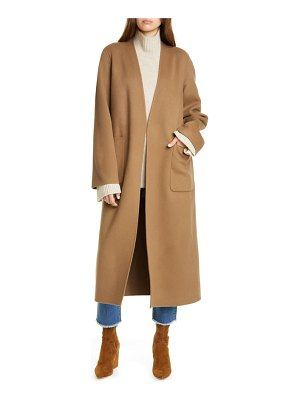 Frame bell double face wool & cashmere wrap coat