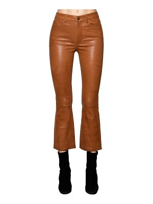 Frame Cropped straight leg leather pants