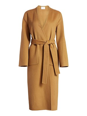 Frame double faced wool & cashmere belted coat