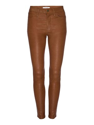 Frame le high leather skinny pants