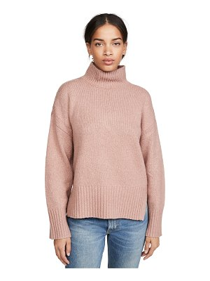 Frame side slit mock neck sweater