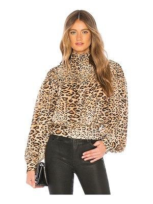 Frame Smocked Cheetah Blouse