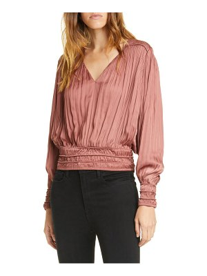 Frame v-neck pleated top