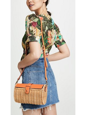 Frances Valentine betsy wicker crossbody bag