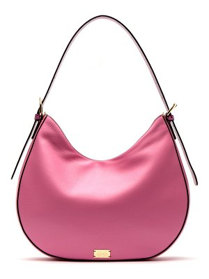 Frances Valentine honey round leather hobo