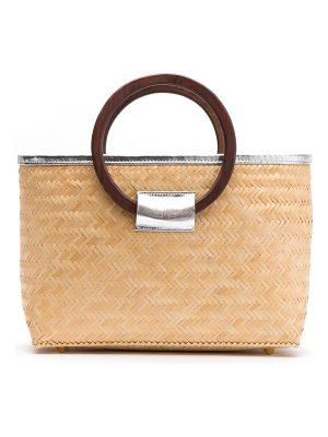 FRANCES VALENTINE Large Woven Bamboo Shopper