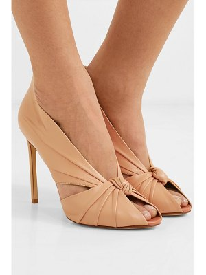 FRANCESCO RUSSO knotted leather pumps
