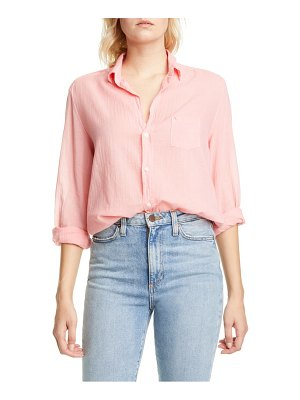 Frank & Eileen cotton voile button-up shirt