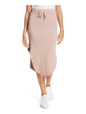 Frank & Eileen frank and eileen raw hem fleece midi skirt