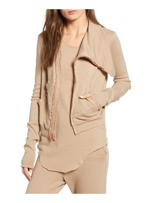 Frank & Eileen frank & eileen asymmetrical zip fleece jacket