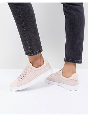 Fred Perry Lace Up Sneakers With Patent Trim