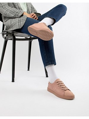 Fred Perry lottie pink sneaker with suede toe cap