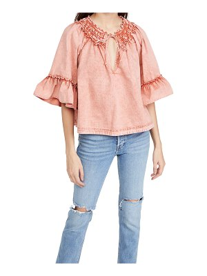 Free People ainsley denim top