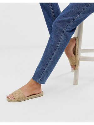 Free People beach front espadrille slider-beige